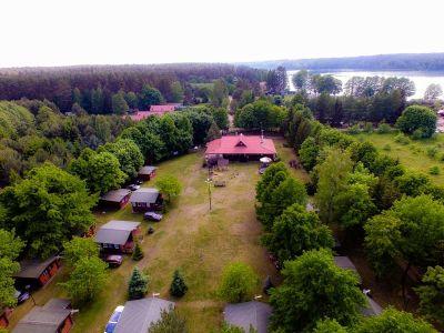 Ośrodek Sasek widok z drona na Restaurację