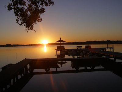 Wschód słońca z naszego pomostu